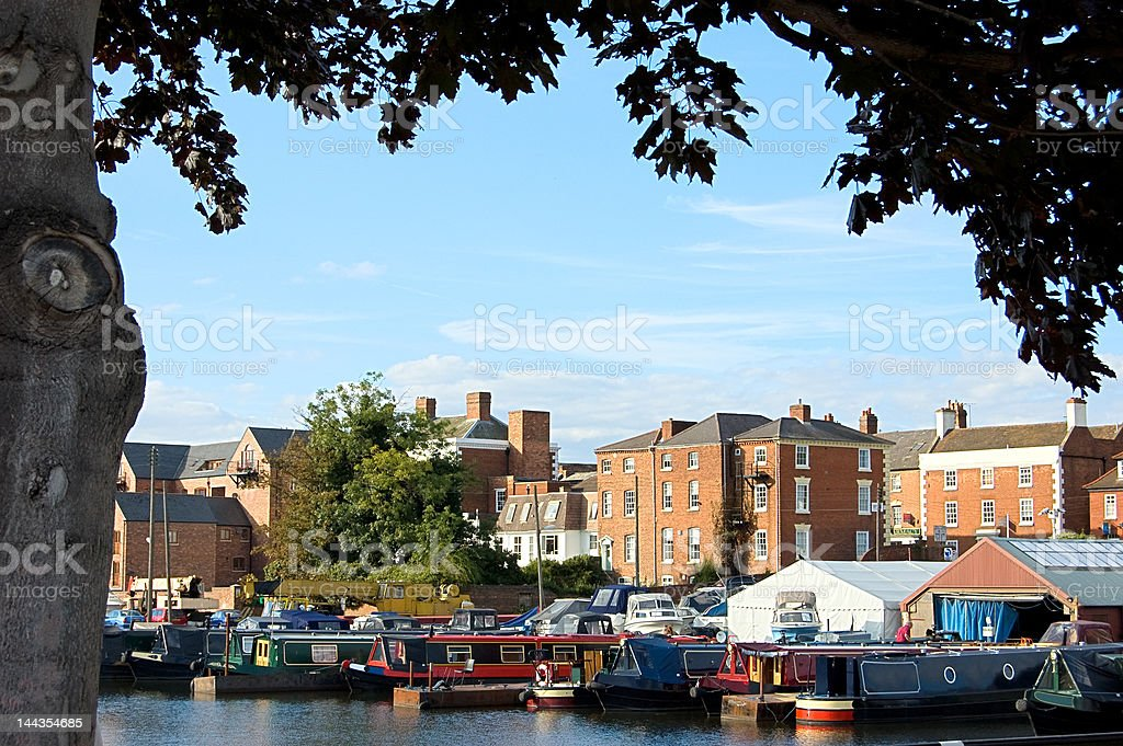 Stourport Canal Basin stock photo