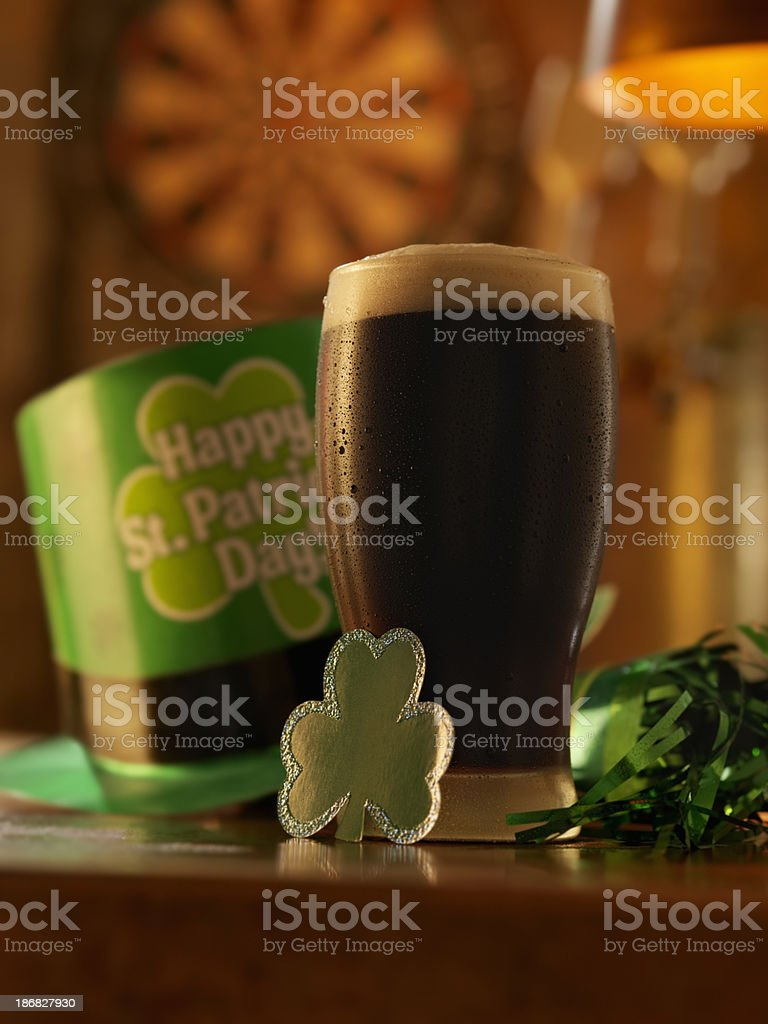 Stout for St. Patrick's Day stock photo