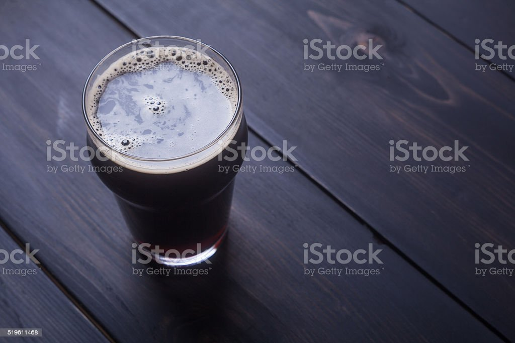 Stout on wood stock photo