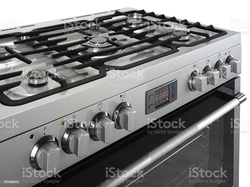 Stove and oven set stock photo