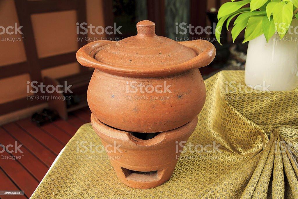Stove And Pot royalty-free stock photo