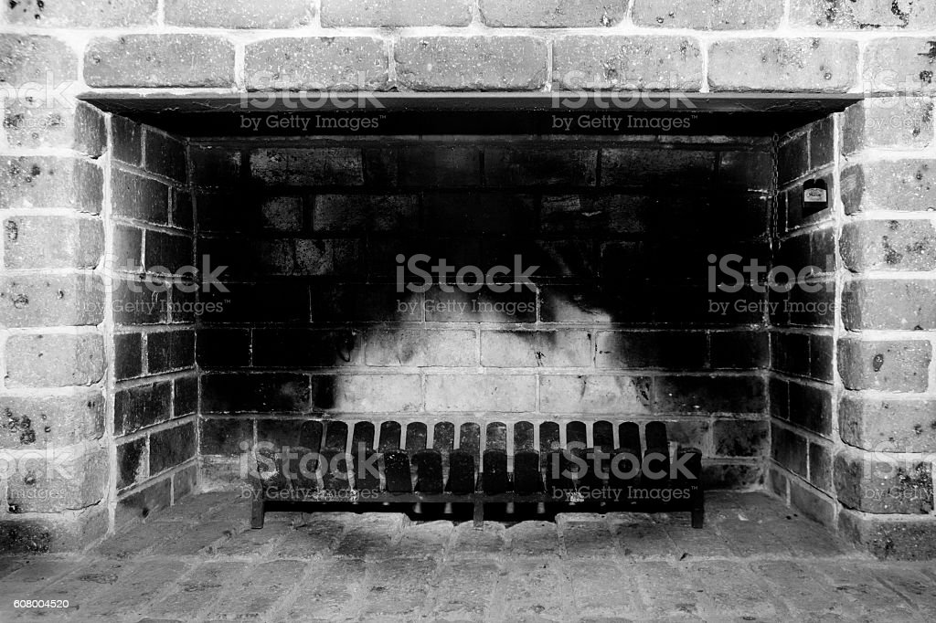 Stove fire for winter stock photo