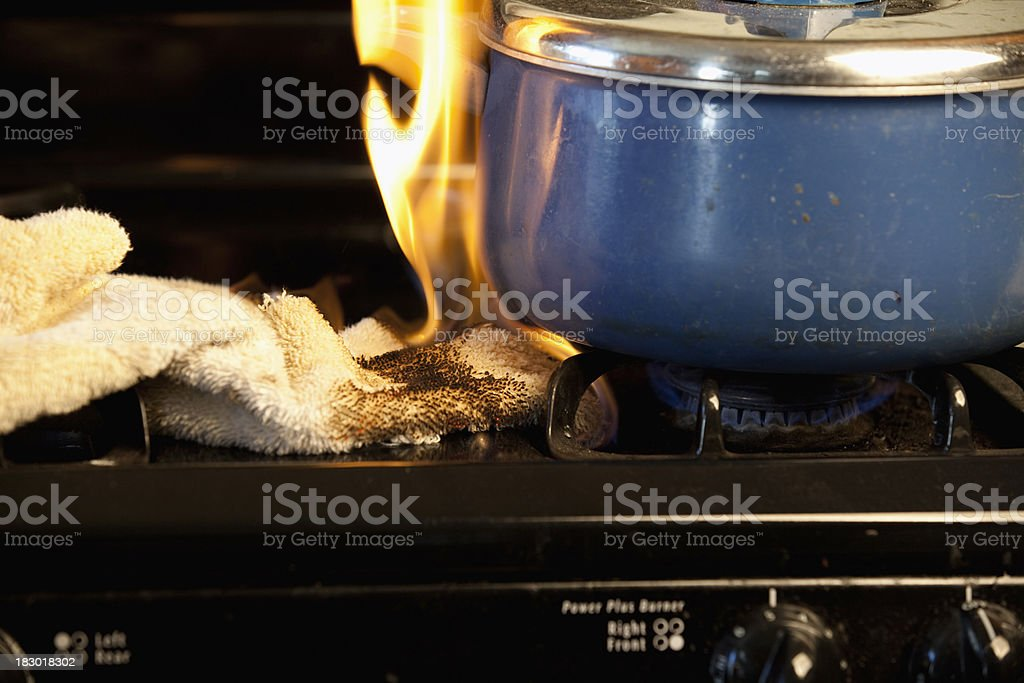 Stove Fire Series stock photo