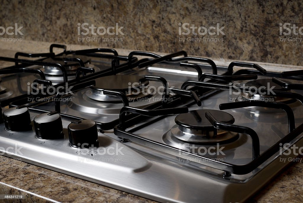 stove in the kitchen stock photo