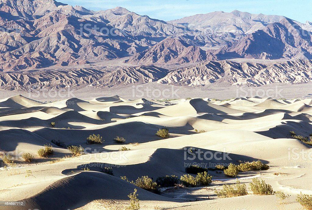 Stovepipe Wells Sand Dunes Death Valley California stock photo