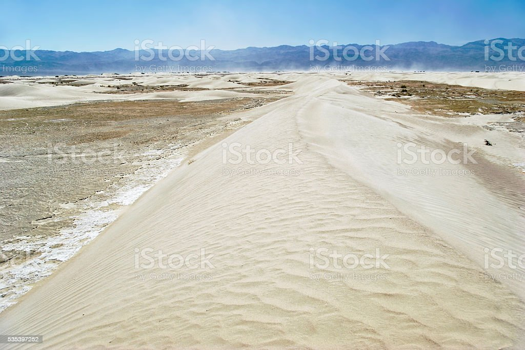 Stovepipe Wells sand dunes stock photo