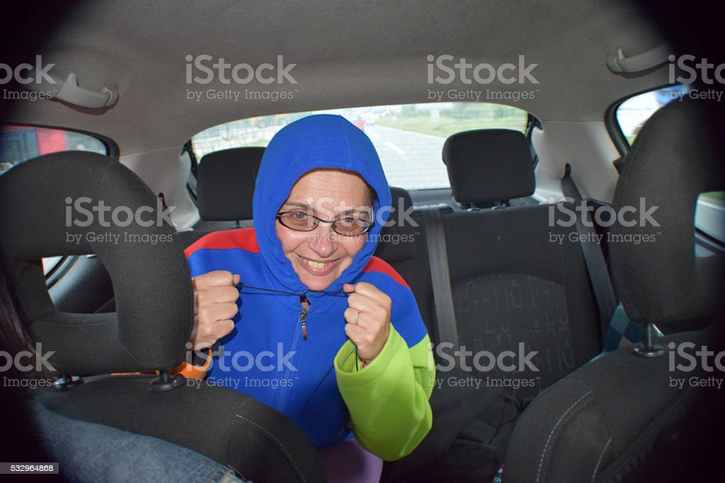 Stowaway or Jack in the box stock photo
