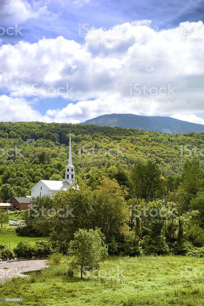 Stowe Vermont stock photo