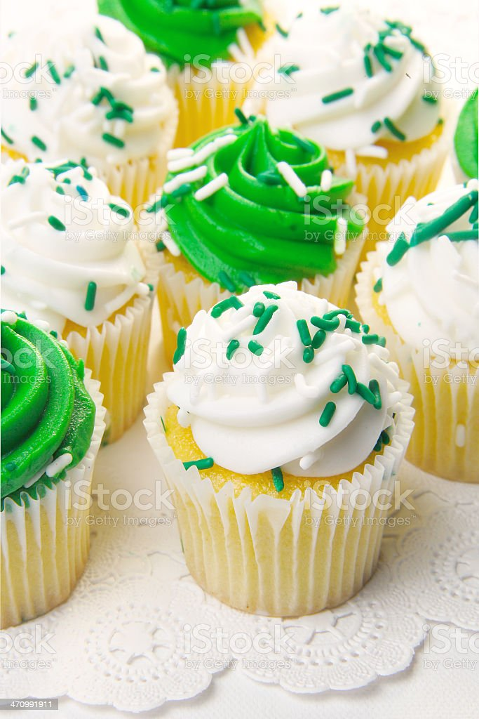 St.Paddy's Day cupcakes stock photo