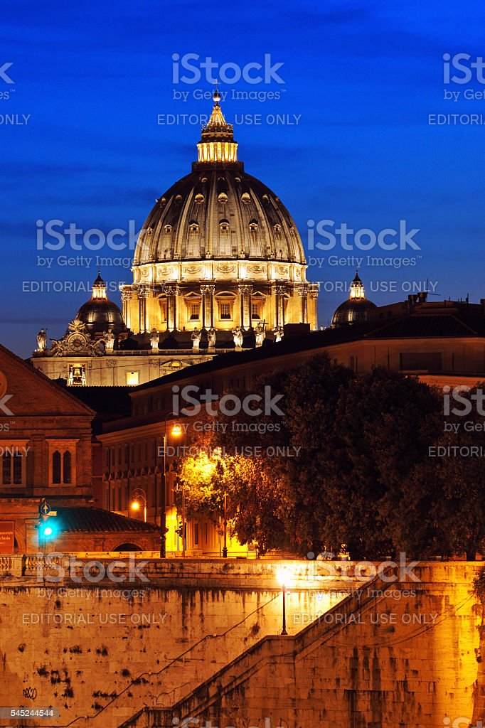 St.Peter basilica in Vatican stock photo