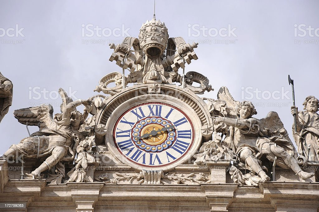 St.Peter's Clock royalty-free stock photo