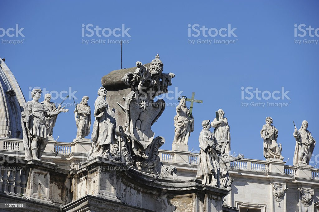 St.Peter's Colonade stock photo