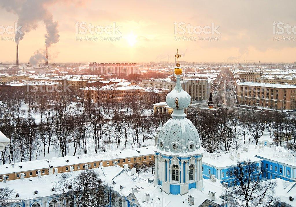 St.Petersburg winter cityscape, Russia stock photo