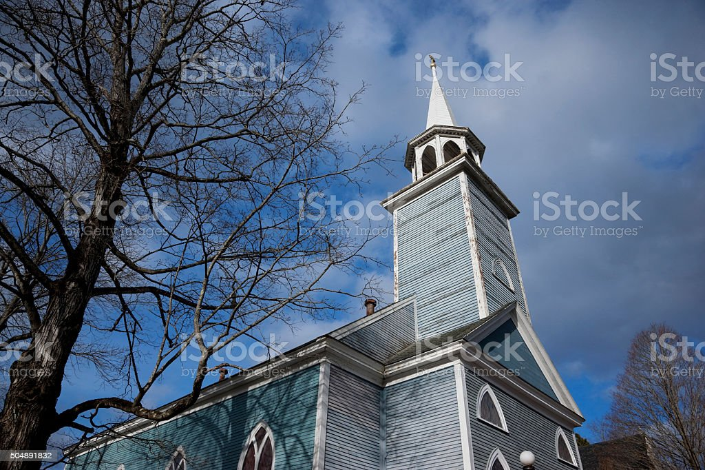 St.Philip's Episcopal Church, Wiscasset, Maine stock photo