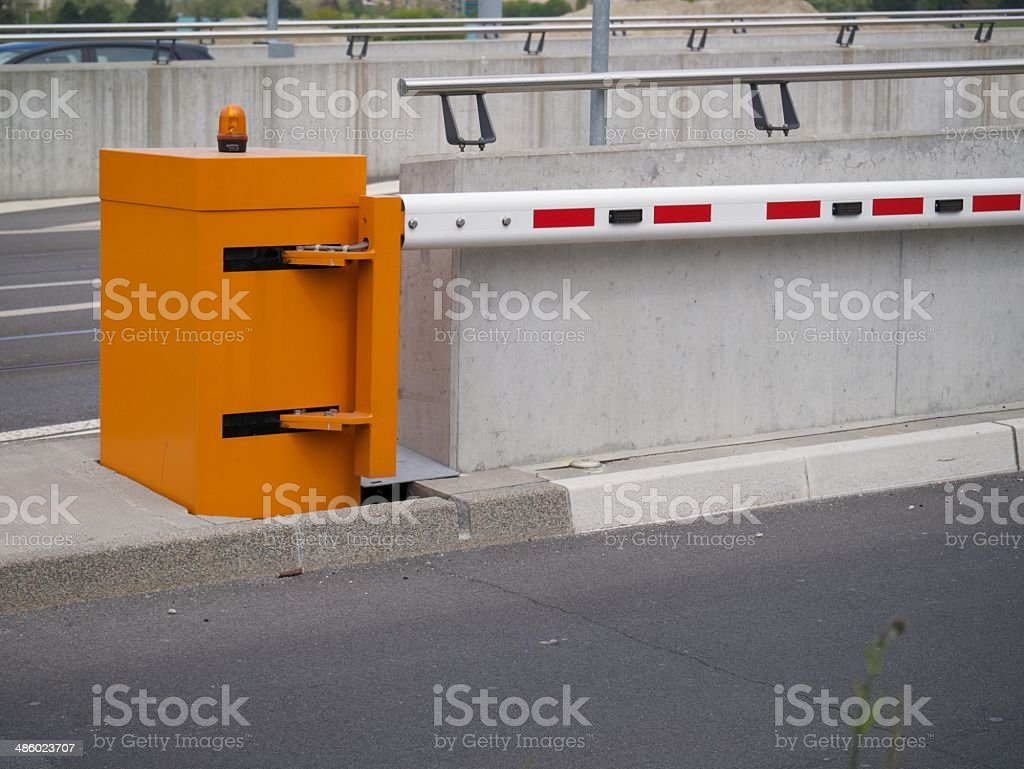 straat barrier royalty-free stock photo