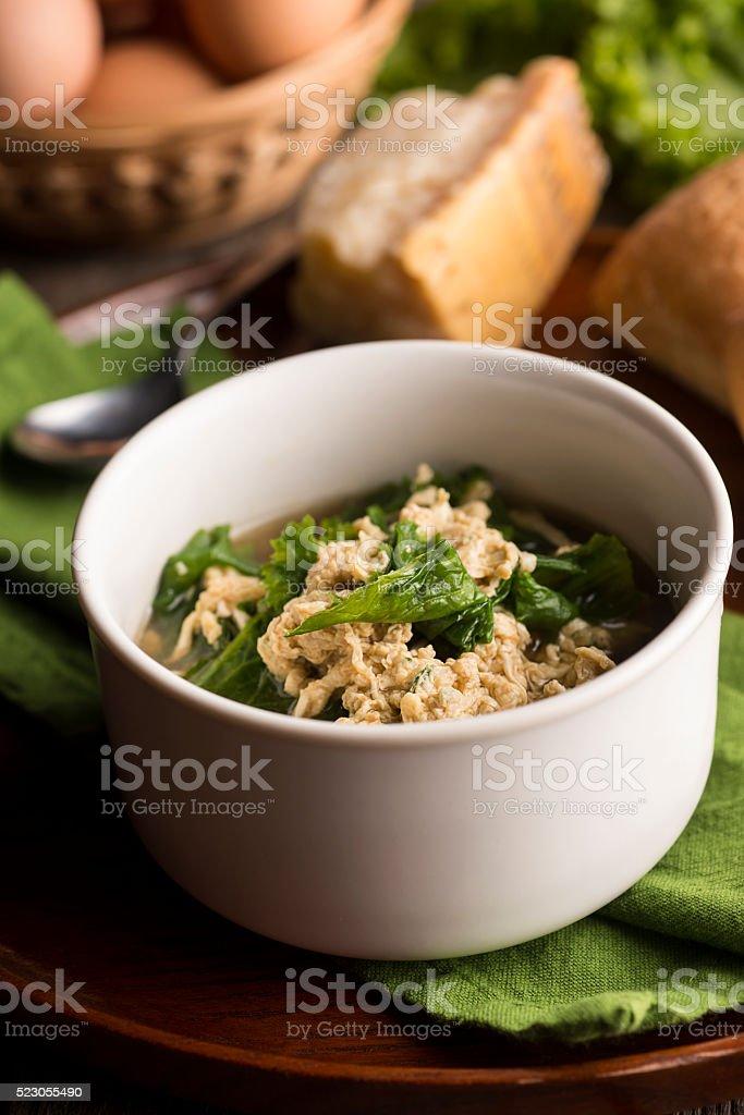 Stracciatella Soup stock photo