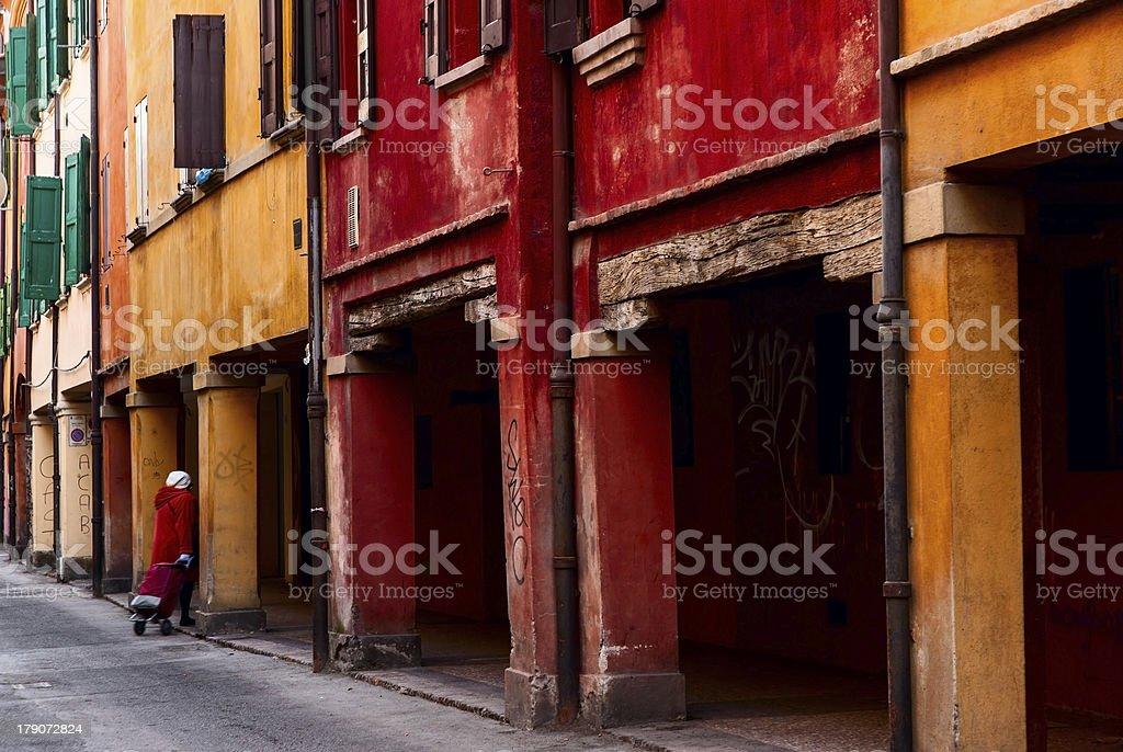 strada con portici royalty-free stock photo