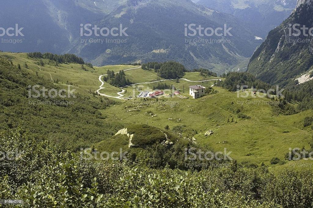 Strada di montagna stock photo