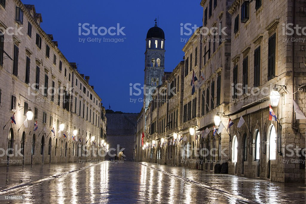 Stradun in Dubrovnik, Croatia royalty-free stock photo