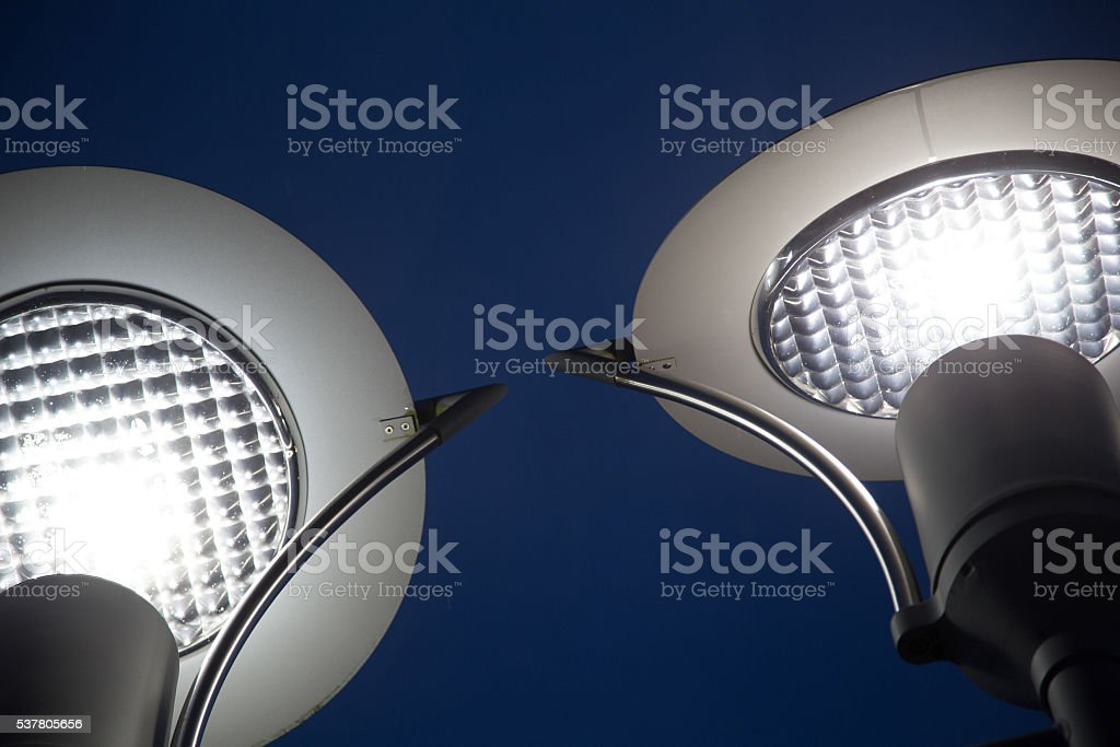 Straßenlaterne LED stock photo