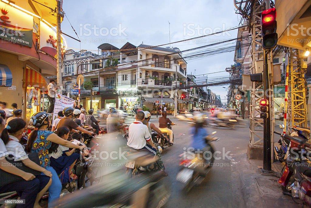 Stra?enszene Ho-Chi-Minh-Stadt stock photo