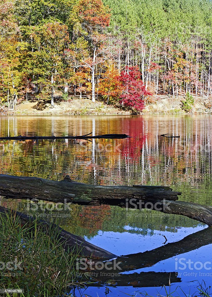 Strahl Lake Fall stock photo