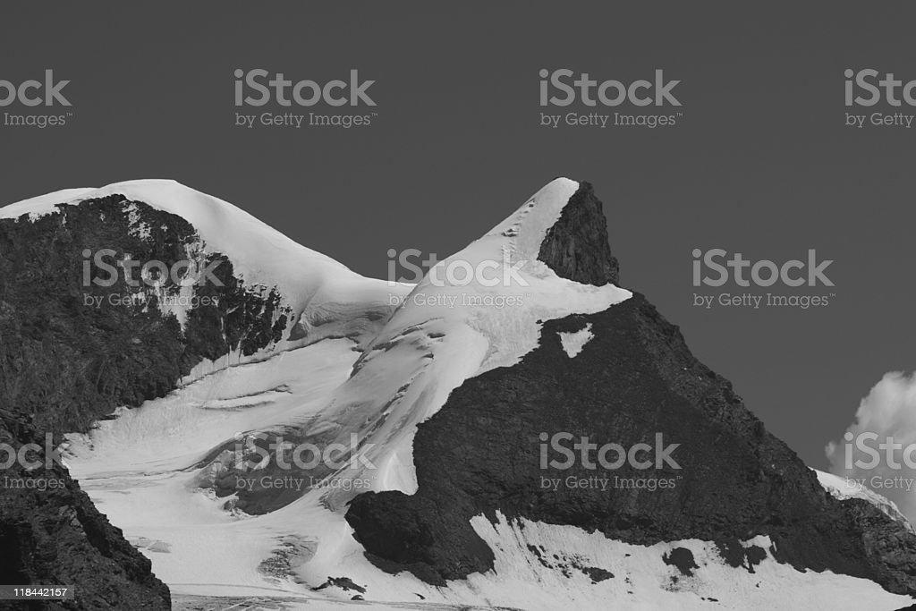 Strahlhorn and Adlerhorn mountains, Valais Canton, Switzerland stock photo