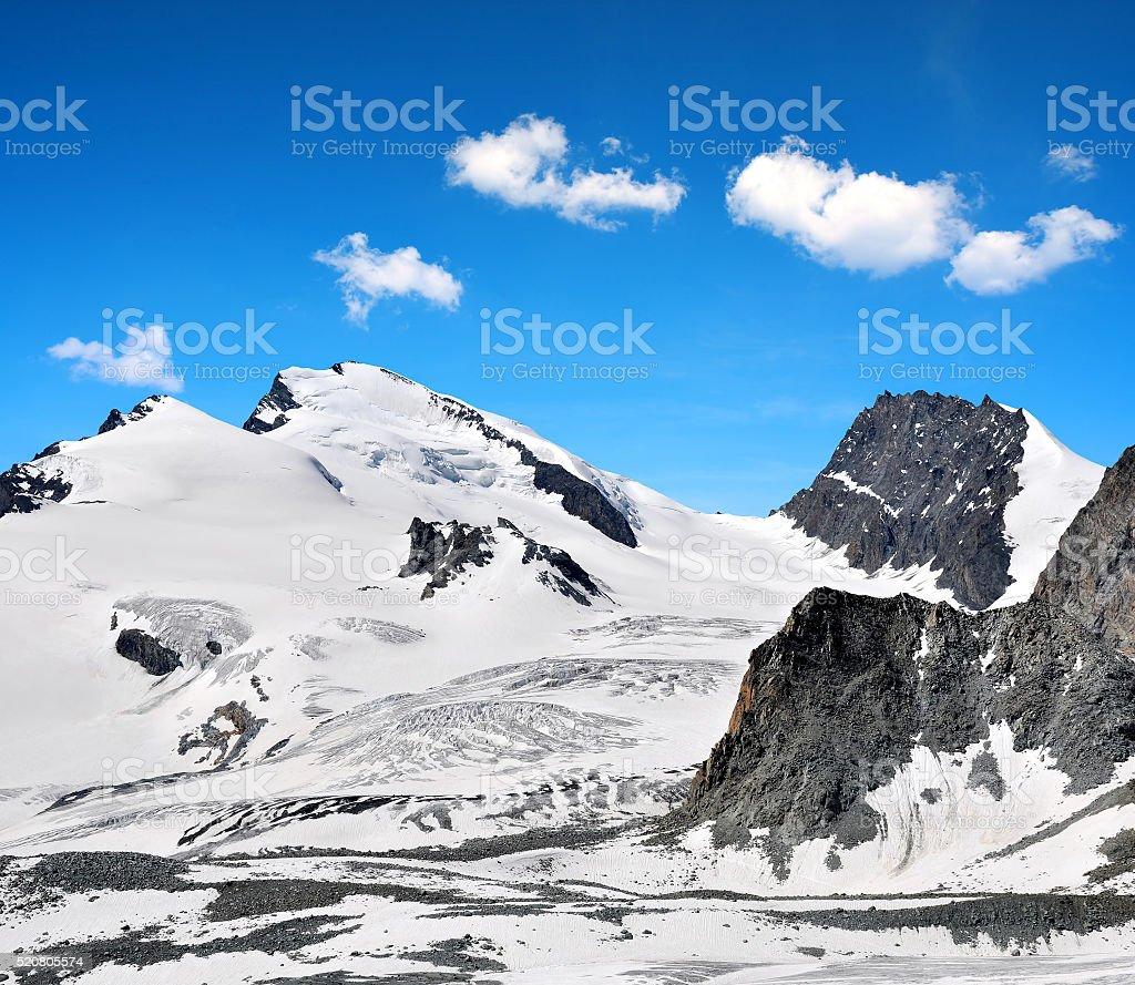 Strahlhorn and Rimpfischhorn - Switzerland stock photo