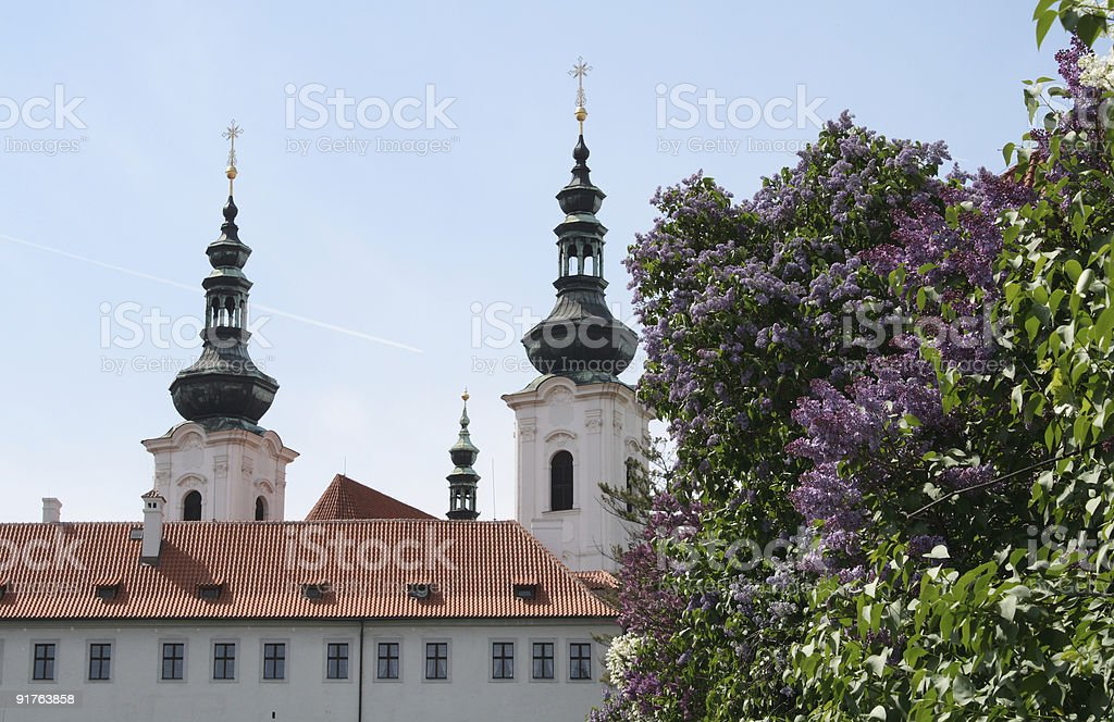 Strahov Library Theological Hall in Prague royalty-free stock photo