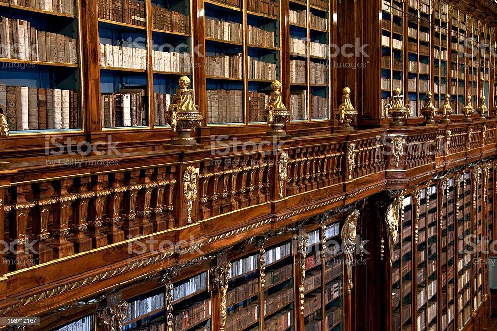 Strahov Library Theological Hall stock photo