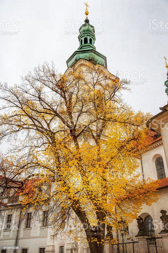 Strahov Monastery in Prague Czech Republic stock photo