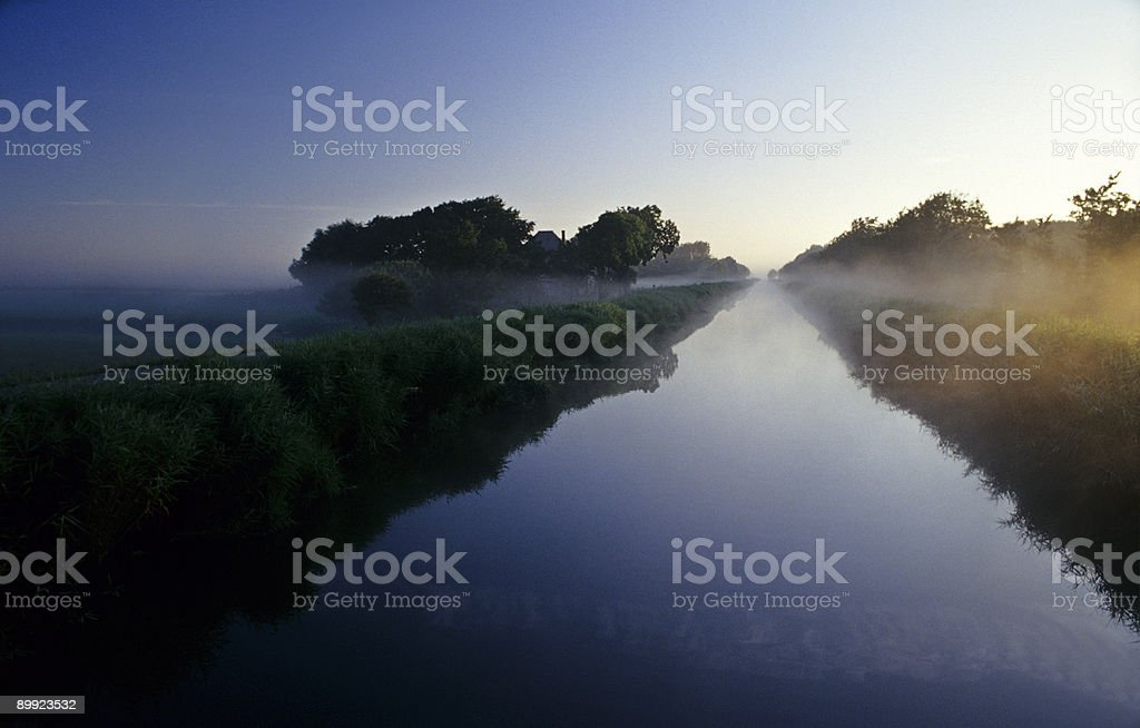 Straight Canal royalty-free stock photo