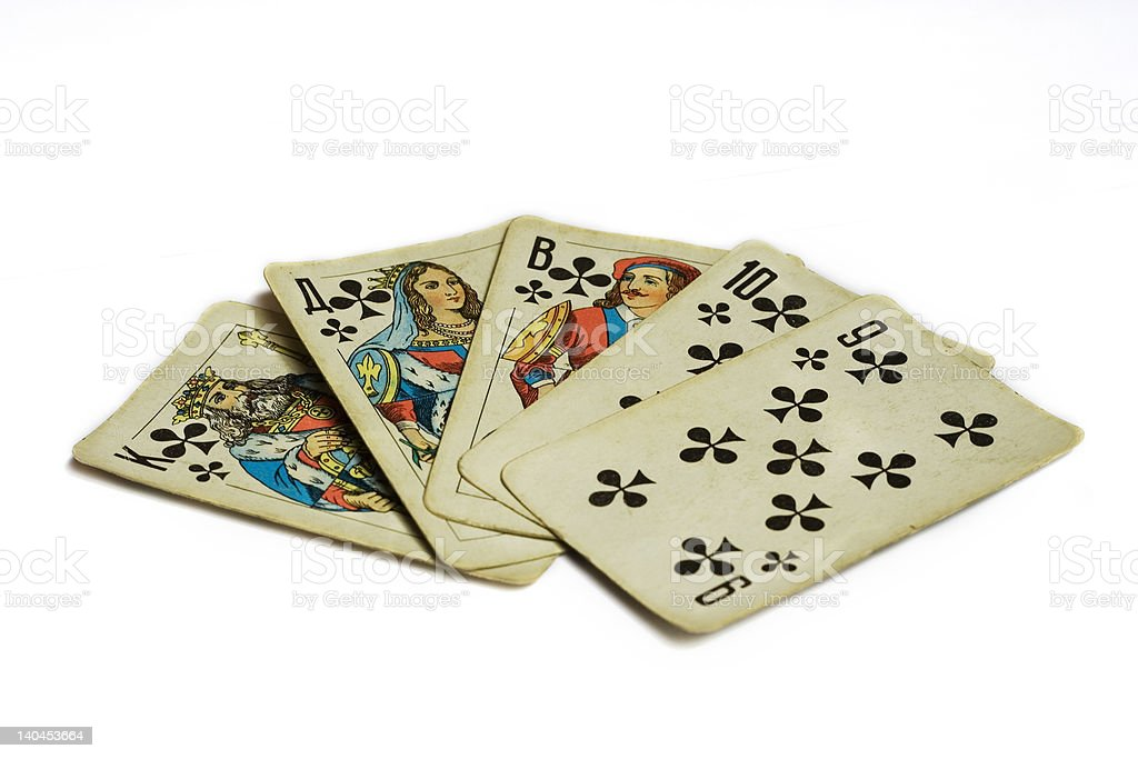 straight cards stock photo
