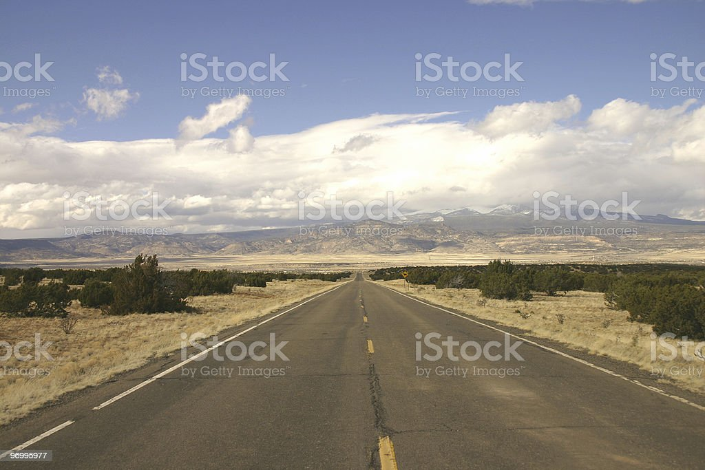 straight desert road royalty-free stock photo