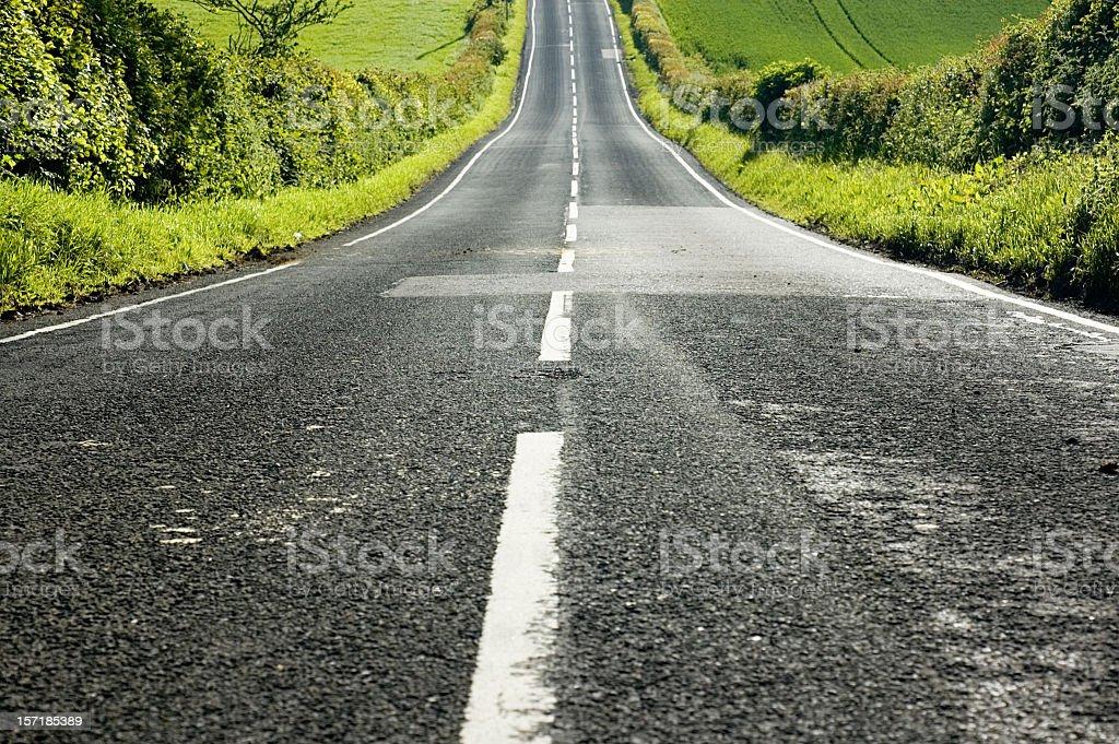 Straight Downhill stock photo