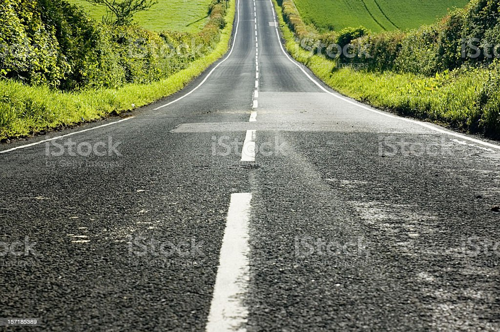 Straight Downhill stock photo
