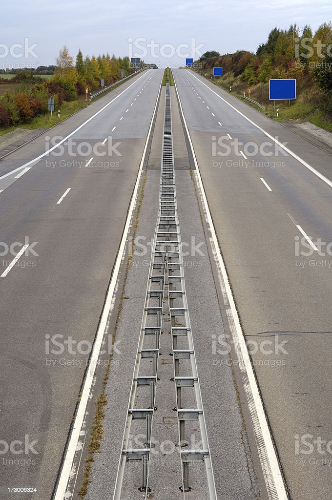 Straight empty highway royalty-free stock photo