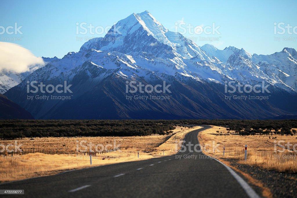 Straight empty road stock photo