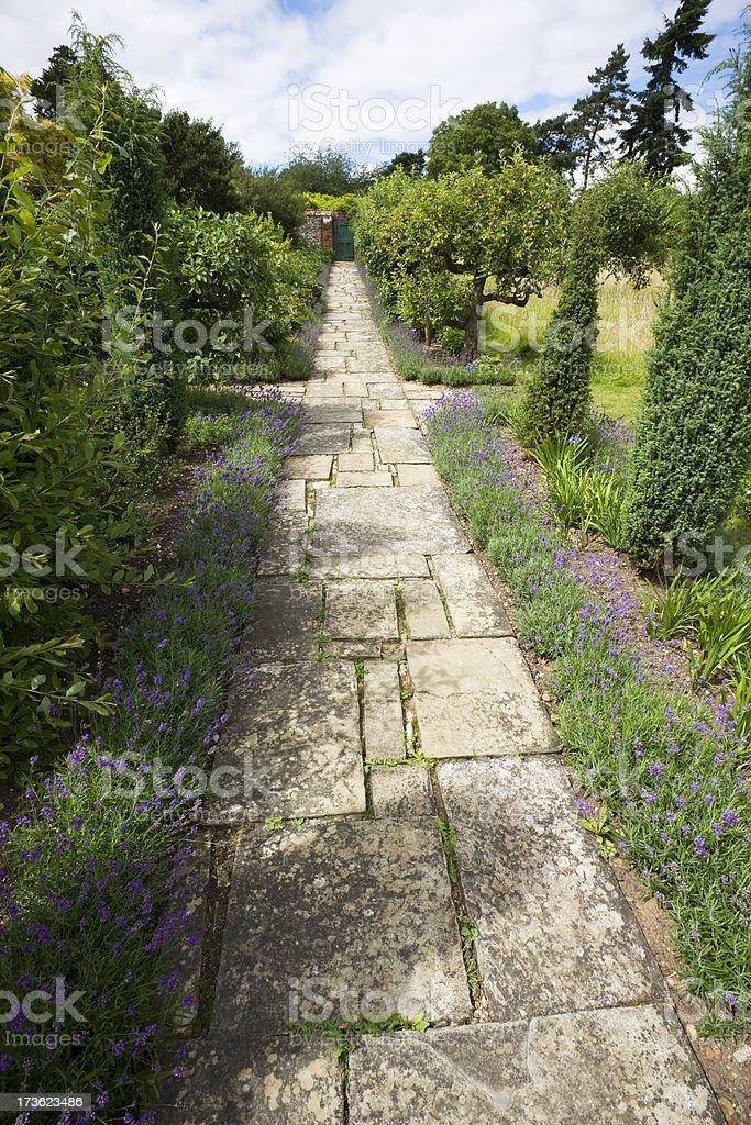 Straight English Garden Path royalty-free stock photo