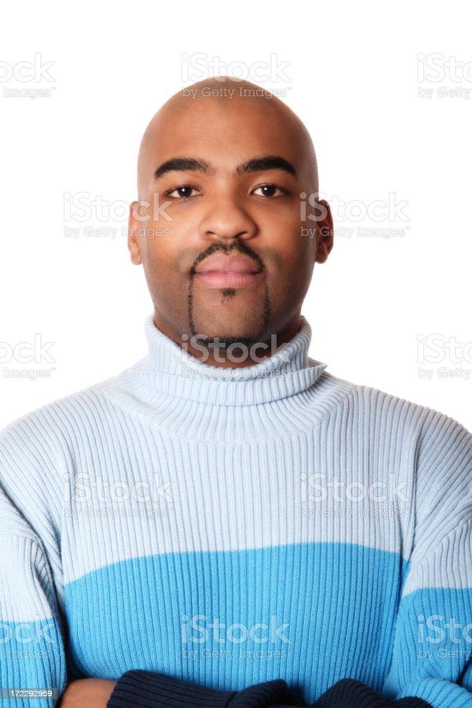 Straight Faced Man stock photo