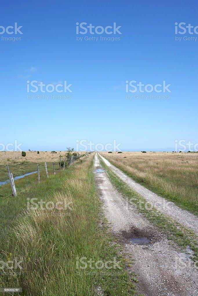 straight gravel road stock photo