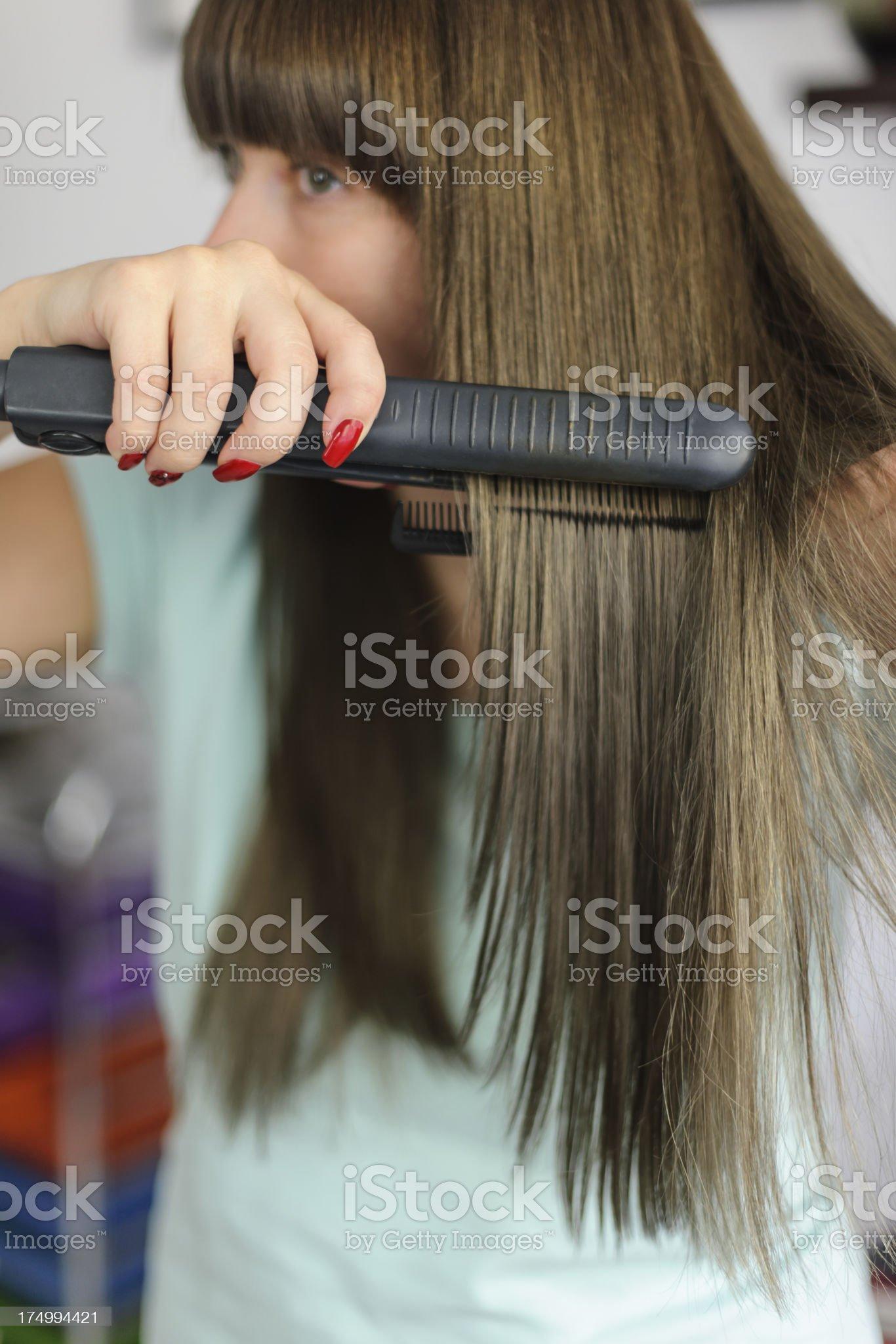straight hair royalty-free stock photo
