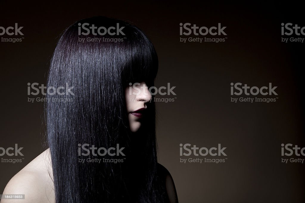 Straight hair royalty-free stock photo