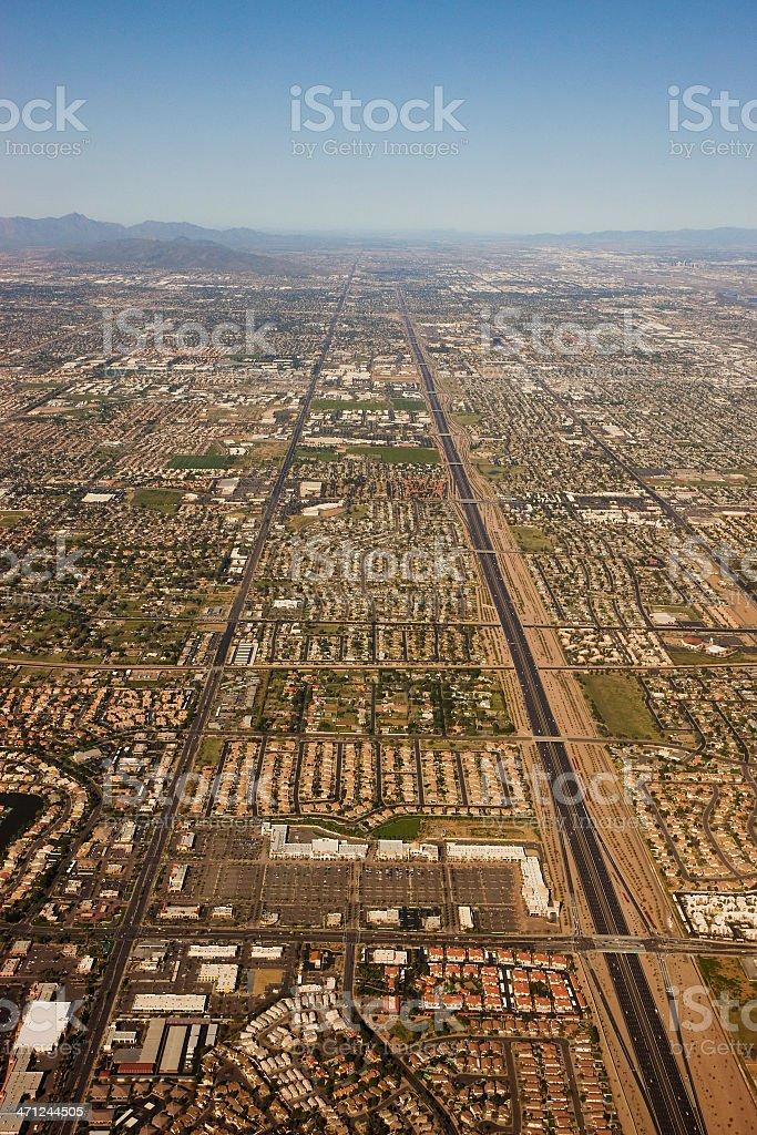 Straight lines of Phoenix. stock photo