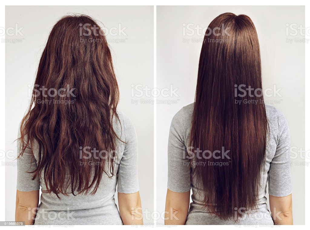 Straight or curly? stock photo