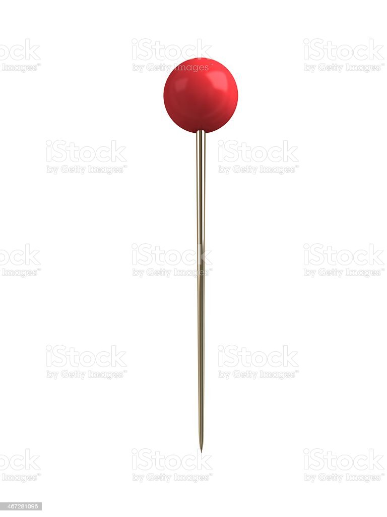Straight Pin red stock photo
