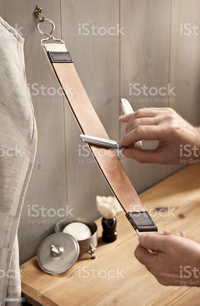 Straight razor stock photo