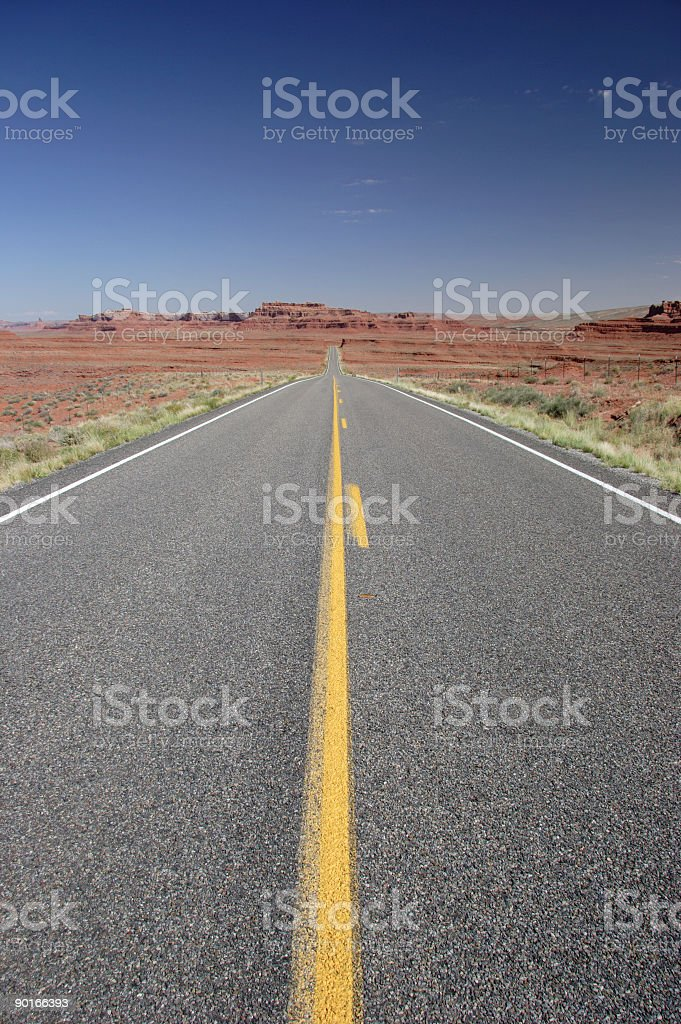 Straight Road - American Southwest royalty-free stock photo
