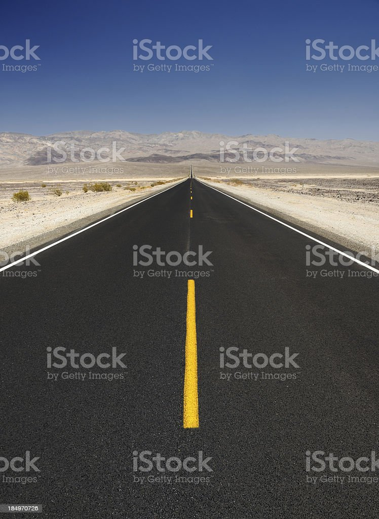 Straight Road, Death Valley stock photo