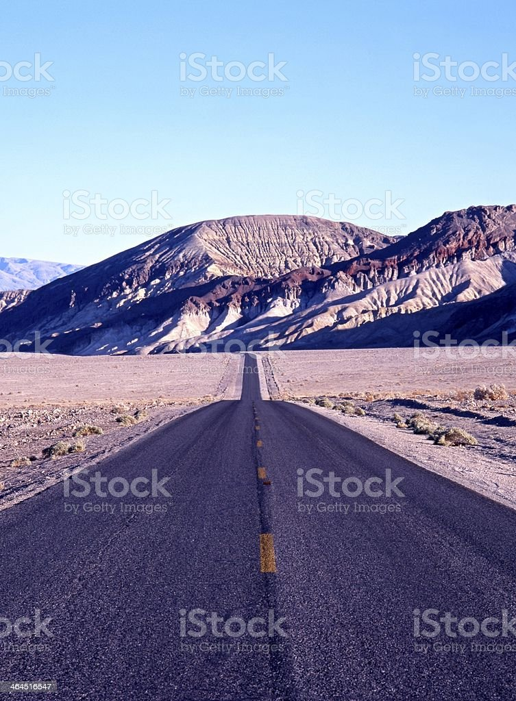 Straight road, Death Valley, USA. royalty-free stock photo